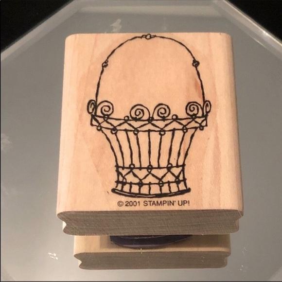 3/$20 Stampin' Up!   2001 Antique Basket Stamper